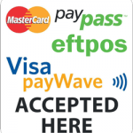 eftpos, credit cards and paywave accepted in all our Food Dens